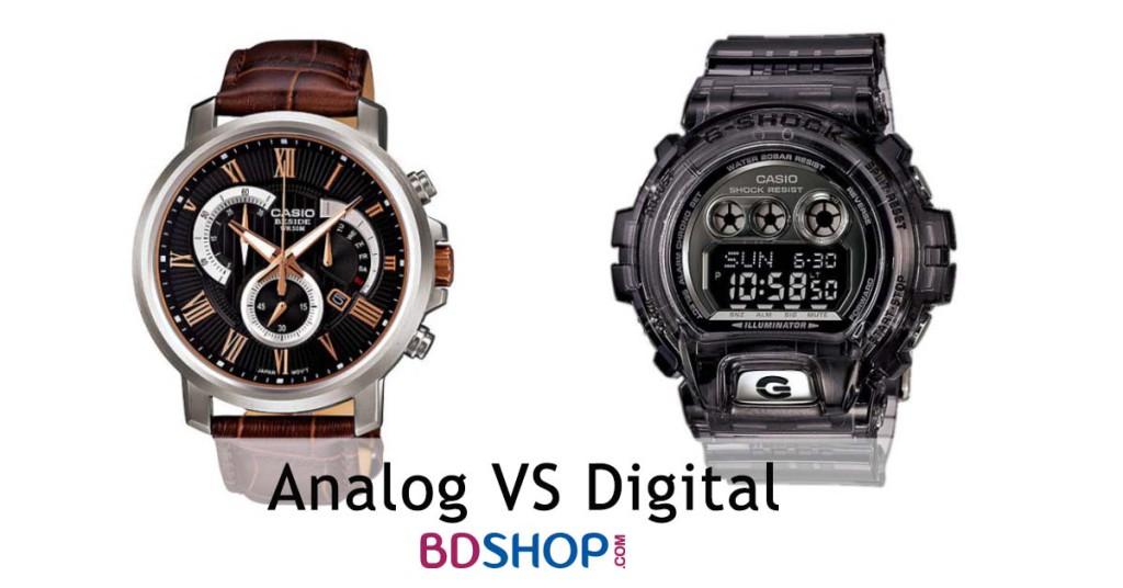 Analog vs Digital gents watch in BD