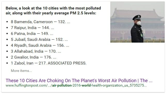 most air poluted city